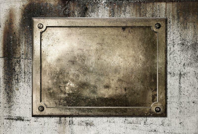 Beira de bronze amarela da placa de metal fotos de stock