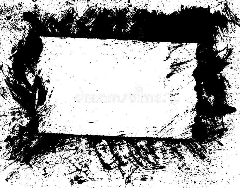Beira de Brushe ou vetor do frame ilustração stock