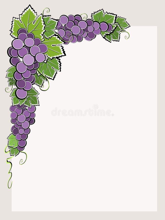 Beira de canto com uva escura ilustração do vetor