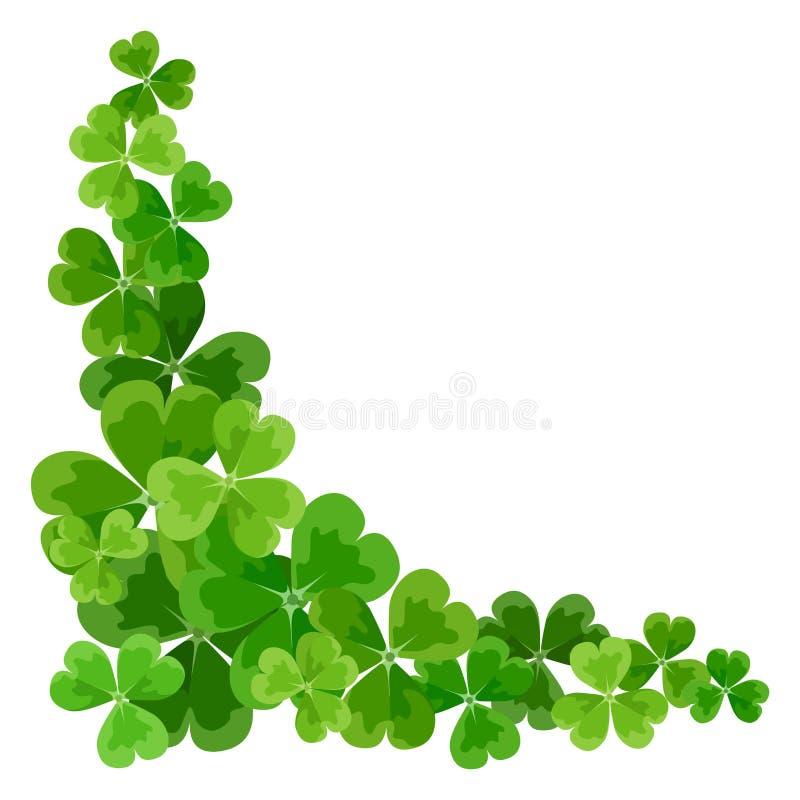 A beira de canto de St Patrick com trevo.