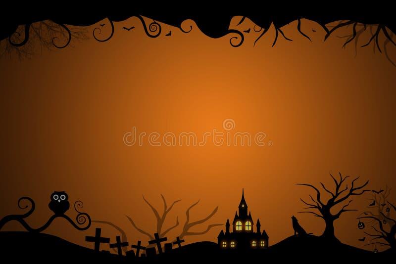 Beira de Dia das Bruxas para o cartão do convite ilustração royalty free