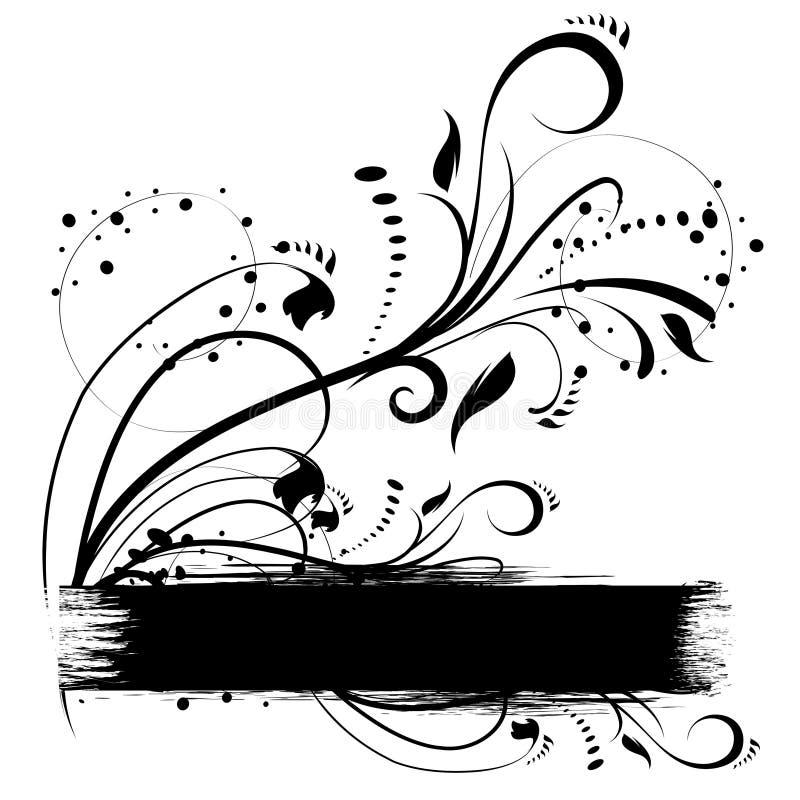 Beira de Grunge para o texto ilustração royalty free