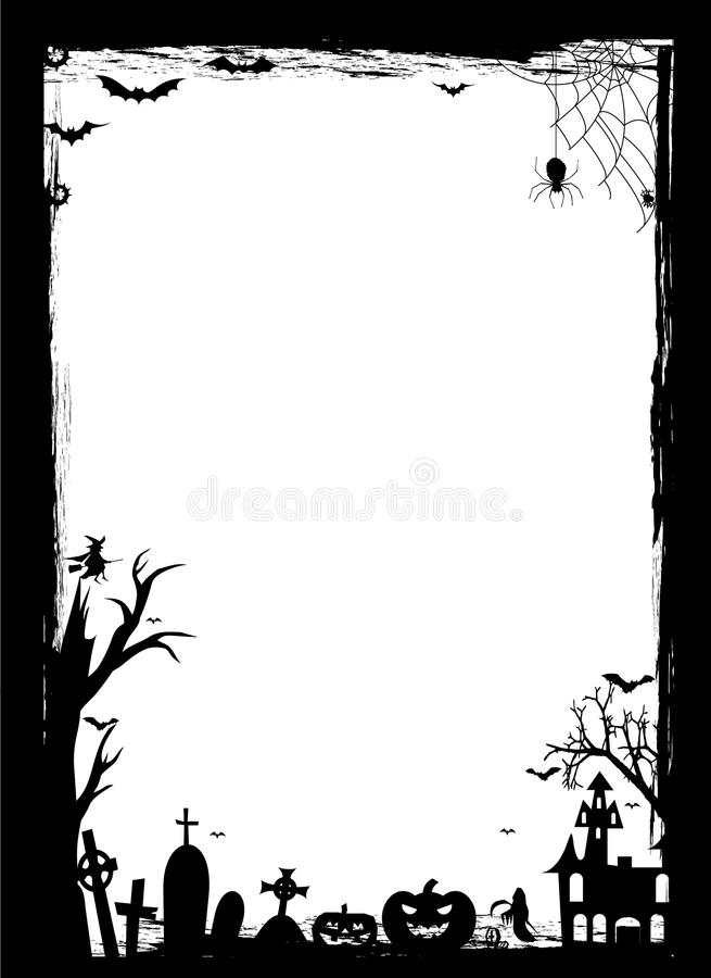Beira de Halloween ilustração royalty free