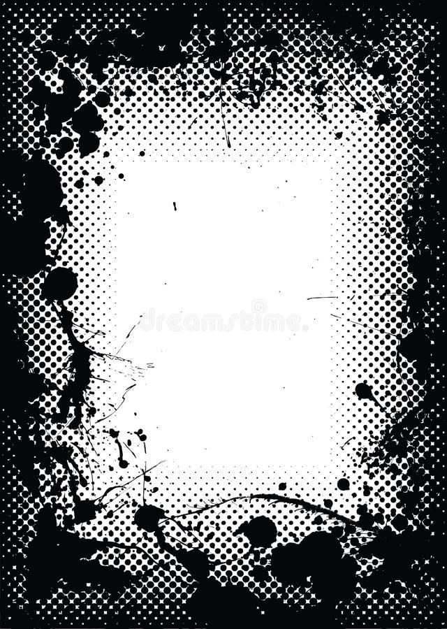 Beira de intervalo mínimo do splat da tinta do grunge ilustração royalty free