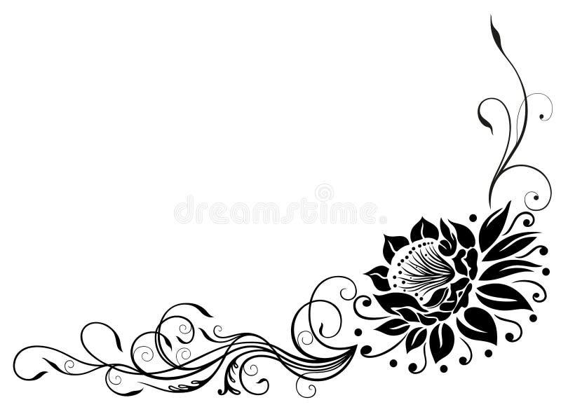 Beira de Lotus ilustração royalty free