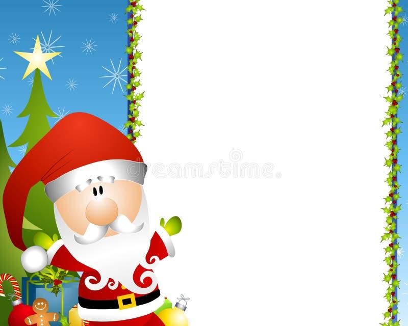 Beira de Papai Noel ilustração stock