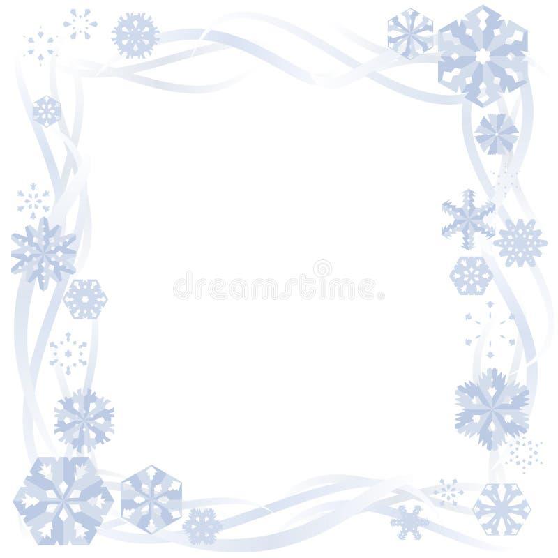 Beira de papel do floco de neve ilustração do vetor