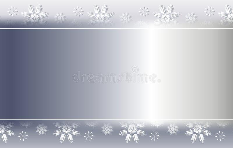 Beira de prata 2 do fundo do floco de neve ilustração royalty free