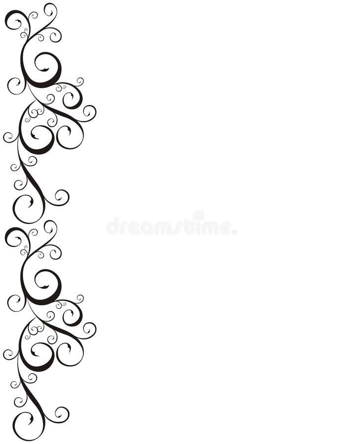 Beira decorativa ilustração stock
