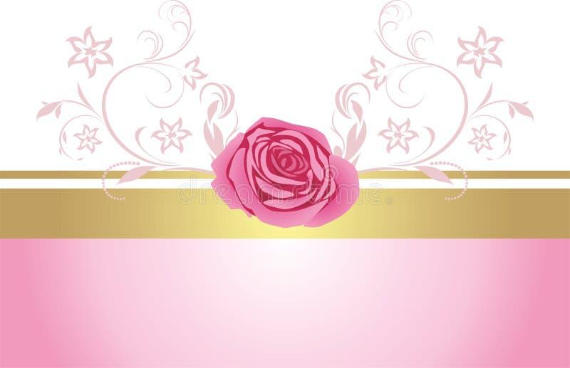 A beira decorativa com cor-de-rosa levantou-se para o projeto ilustração royalty free