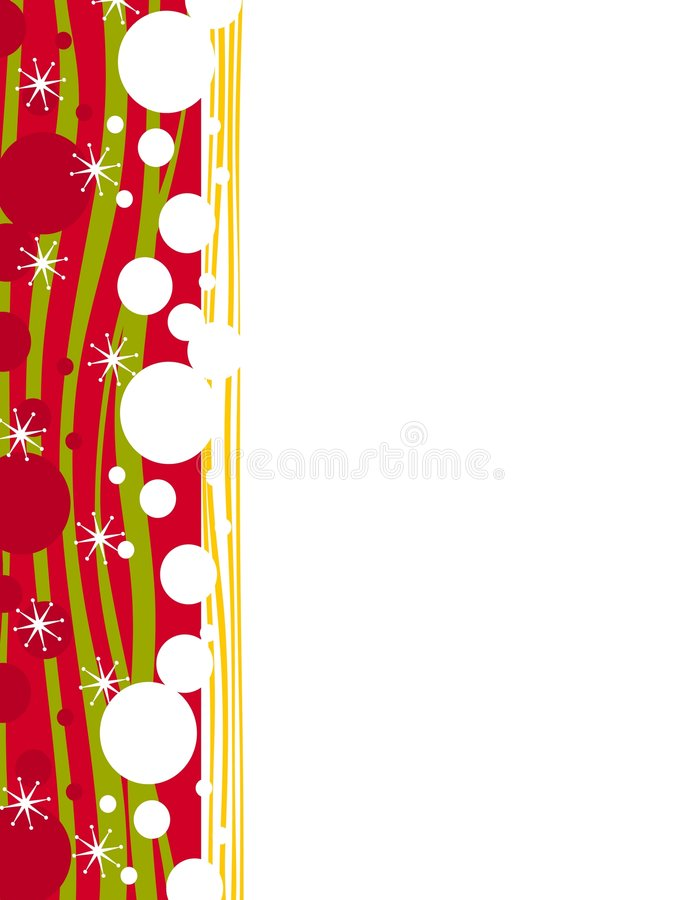 Beira decorativa da página do Xmas ilustração royalty free
