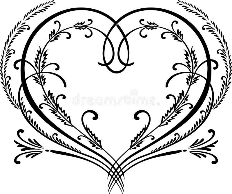 Beira decorativa do coração ilustração stock