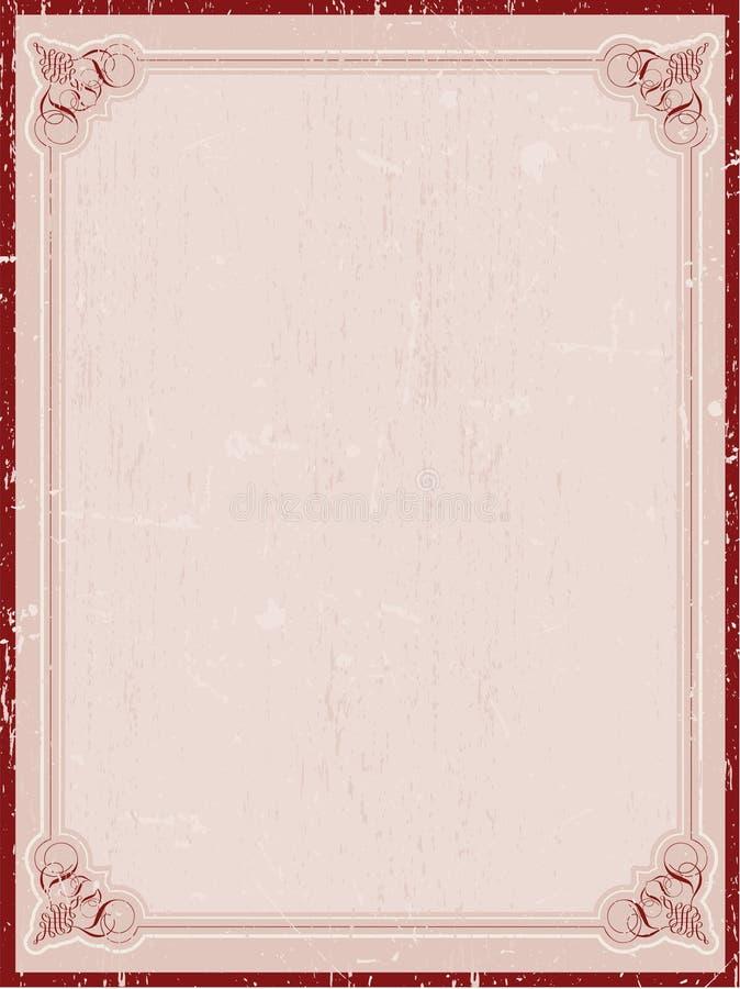Beira decorativa do grunge ilustração do vetor