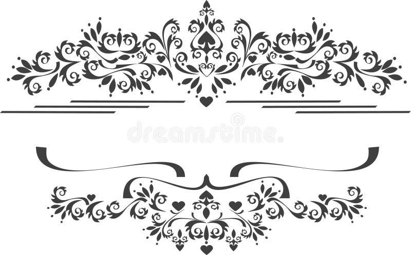 Beira decorativa do ornamento, quadro. Artes gráficas. fotos de stock royalty free