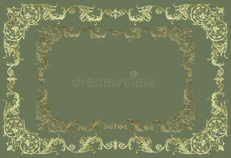 Beira decorativa do vetor ilustração stock
