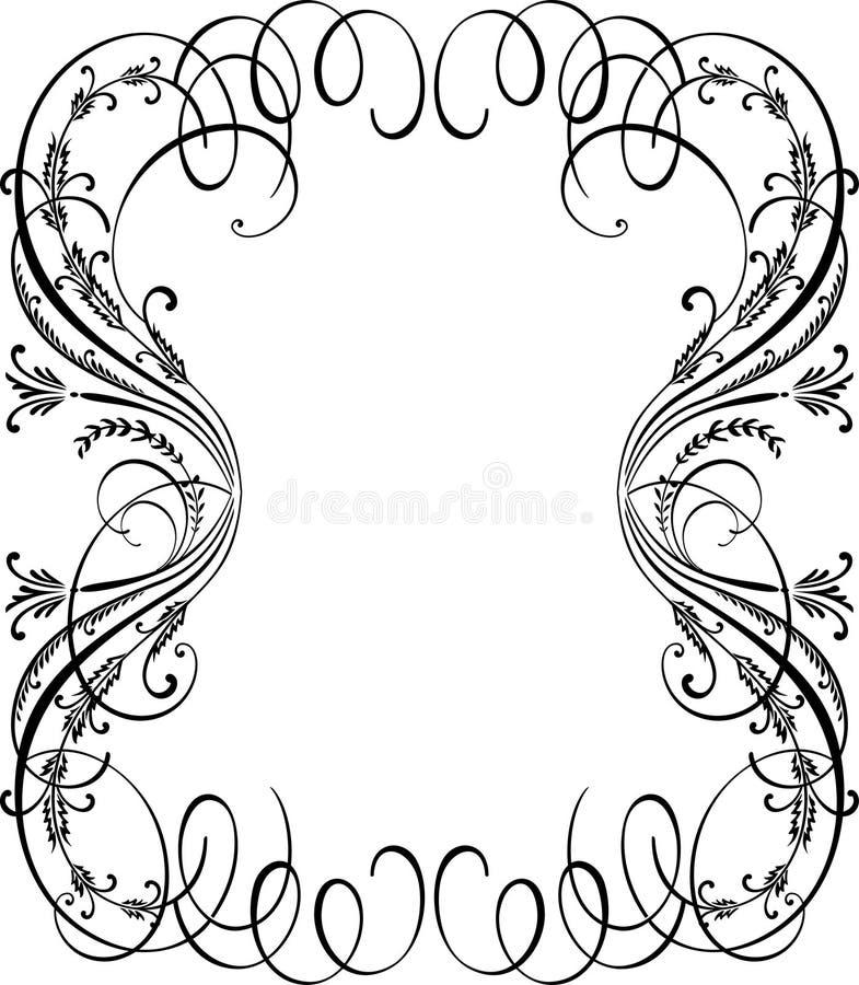 Beira decorativa do vintage vazio elegante ilustração do vetor