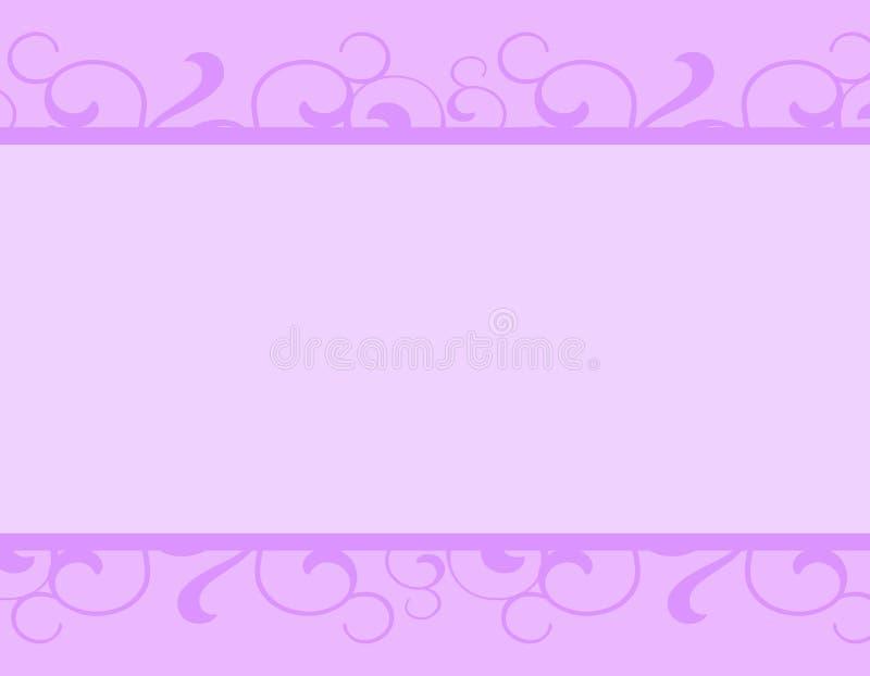 Beira decorativa roxa simples ilustração stock