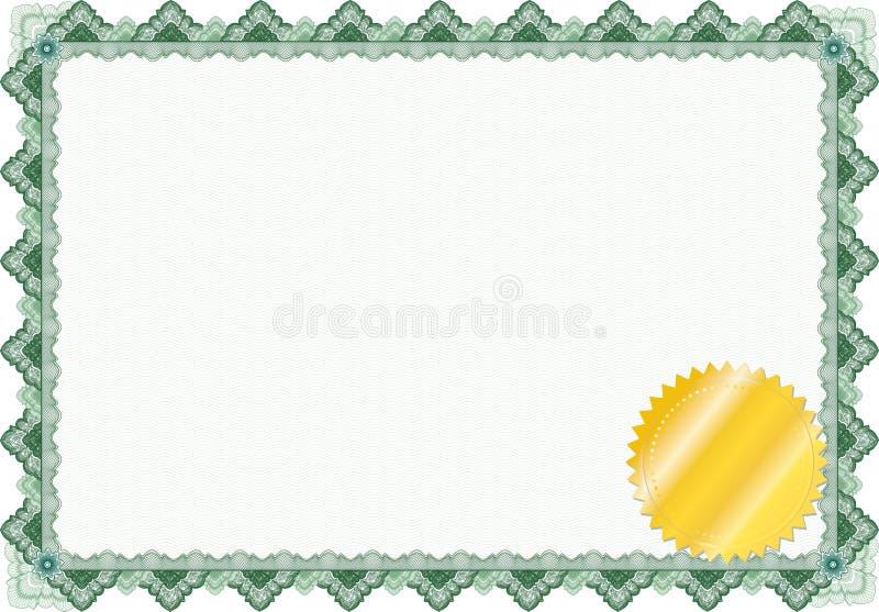 Beira/diploma ou certificado clássico do guilloche ilustração do vetor