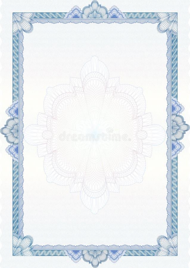 Beira/diploma ou certificado clássico do guilloche ilustração royalty free