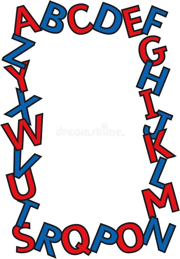 Beira do alfabeto ilustração stock