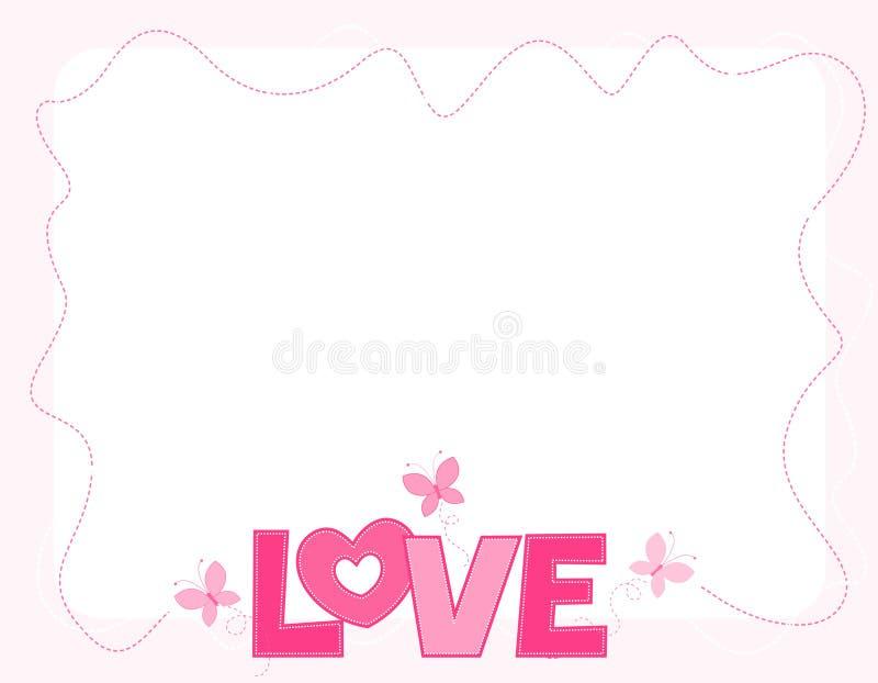 Beira do amor ilustração royalty free