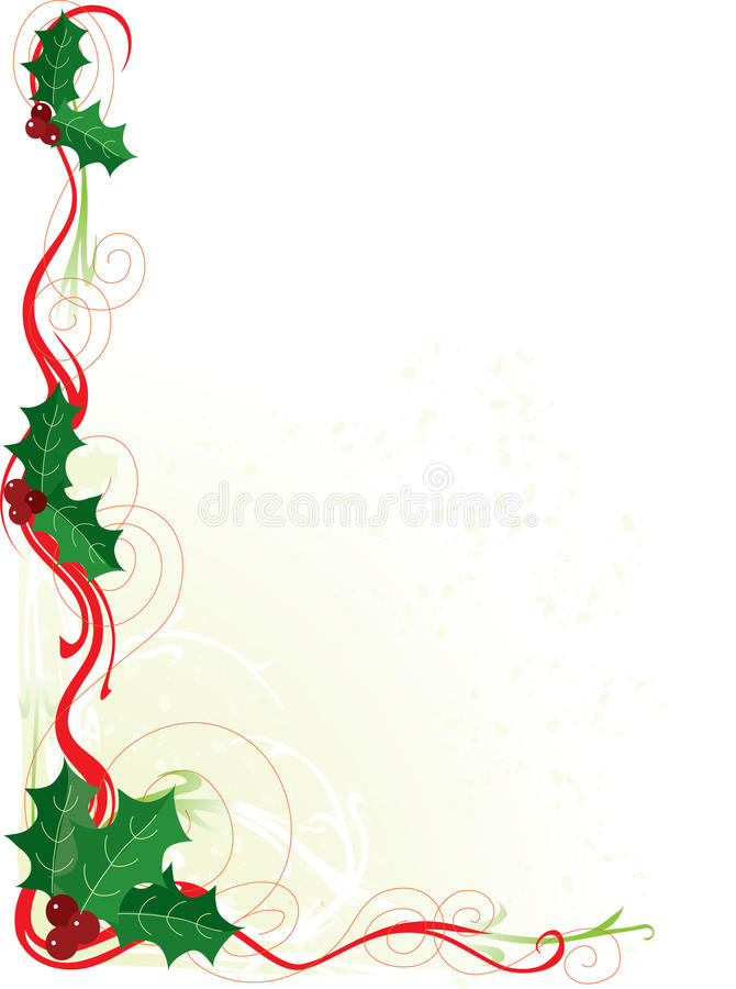 Beira do azevinho do Natal ilustração do vetor