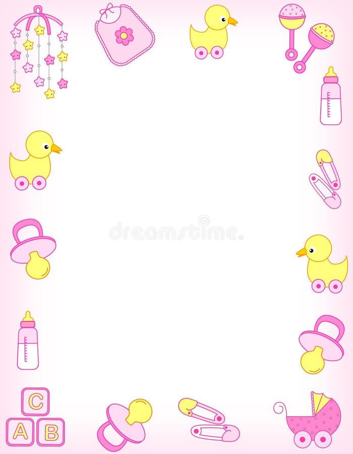 Beira do bebê ilustração royalty free