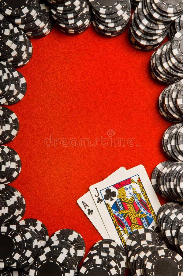 Beira do Blackjack imagem de stock royalty free