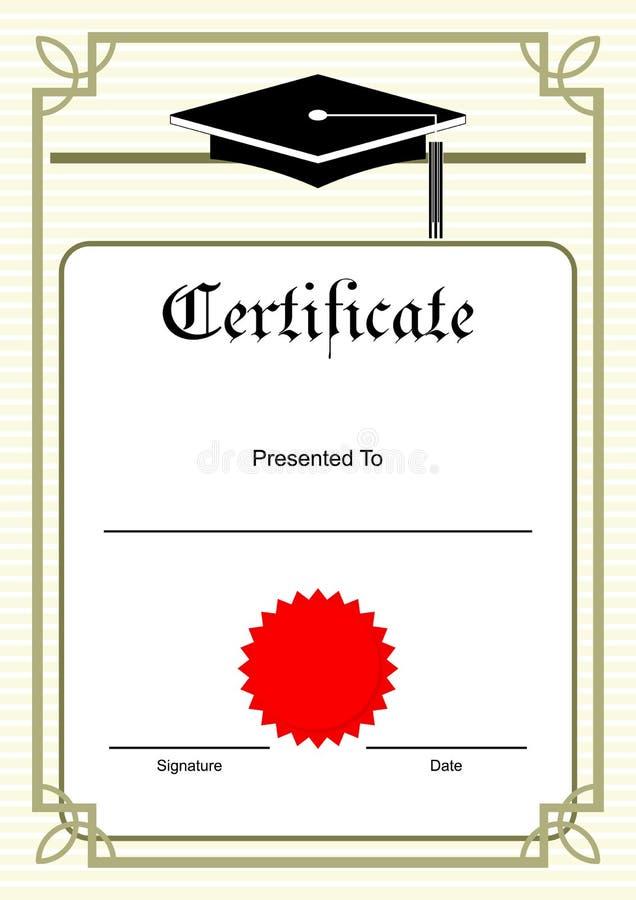 Beira do certificado imagem de stock
