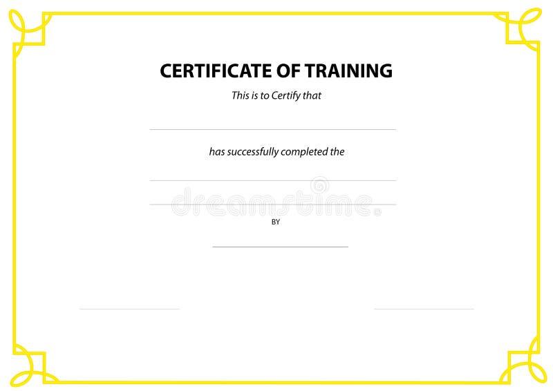 Beira do certificado ilustração do vetor