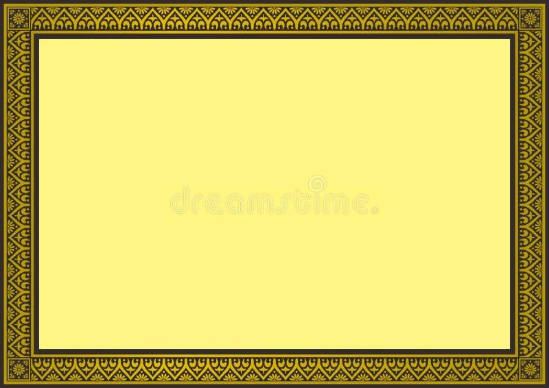 Beira do certificado ilustração royalty free