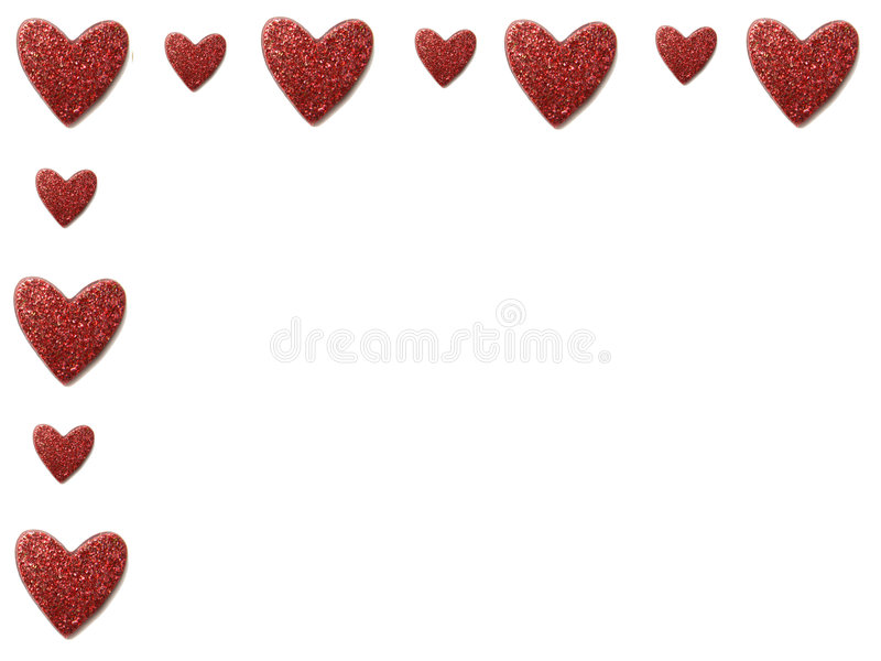 Beira do coração do Valentim fotos de stock royalty free