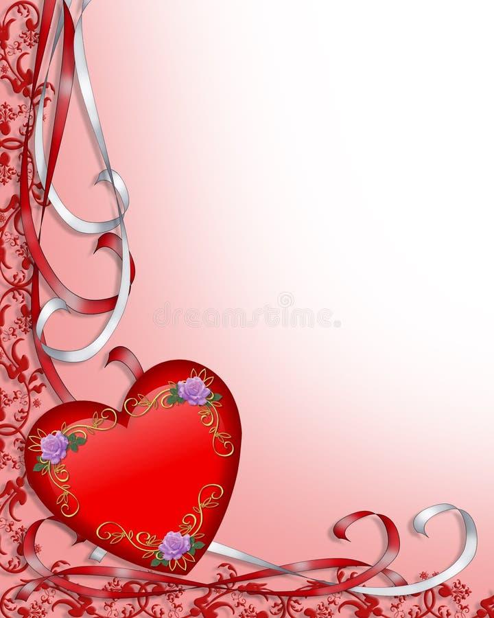 Beira do coração do Valentim ilustração do vetor