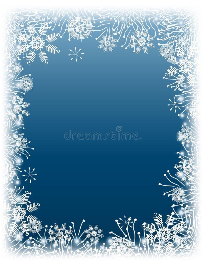 Beira do floco de neve do inverno ilustração do vetor