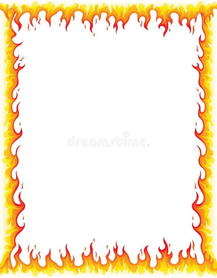 Beira do fogo ilustração royalty free