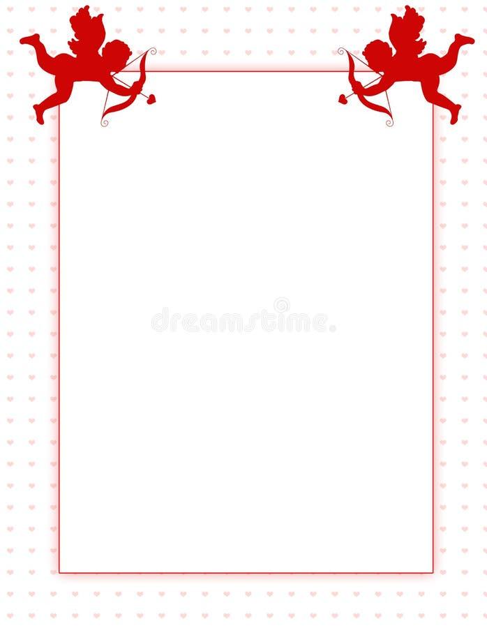 Beira do fundo do dia do Valentim do Cupid ilustração do vetor