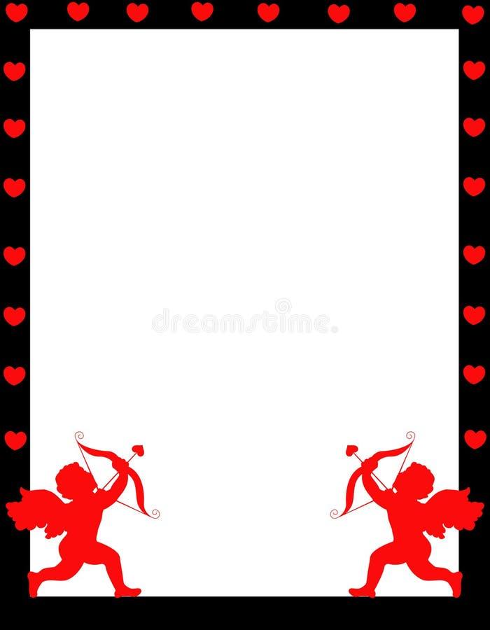 Beira do fundo do dia do Valentim do Cupid ilustração stock