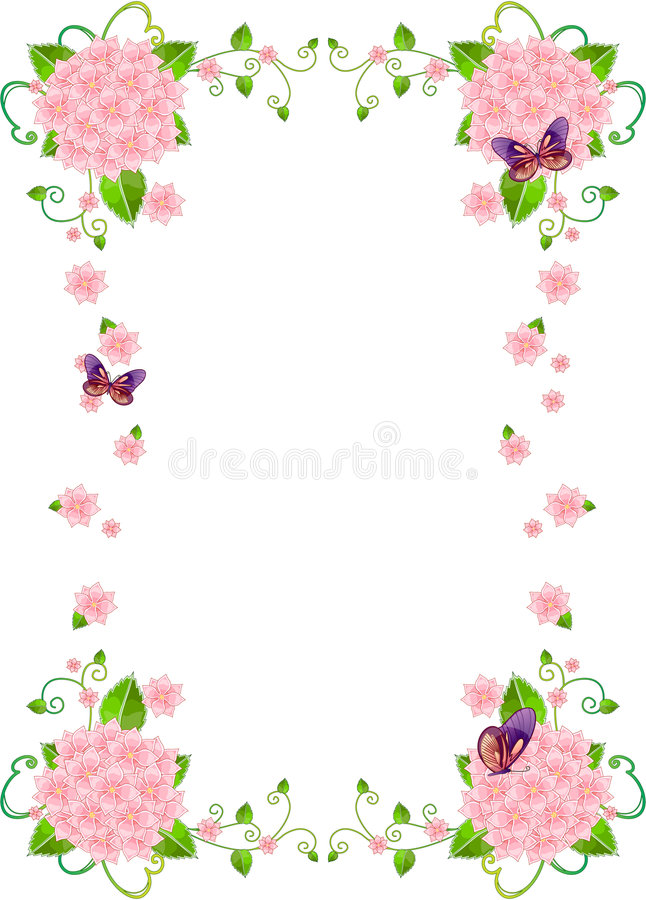 Beira do fundo do frame da flor ilustração royalty free