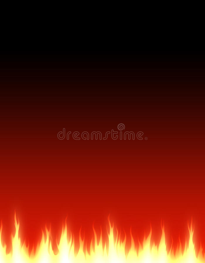 Beira do fundo do Web do incêndio ilustração royalty free