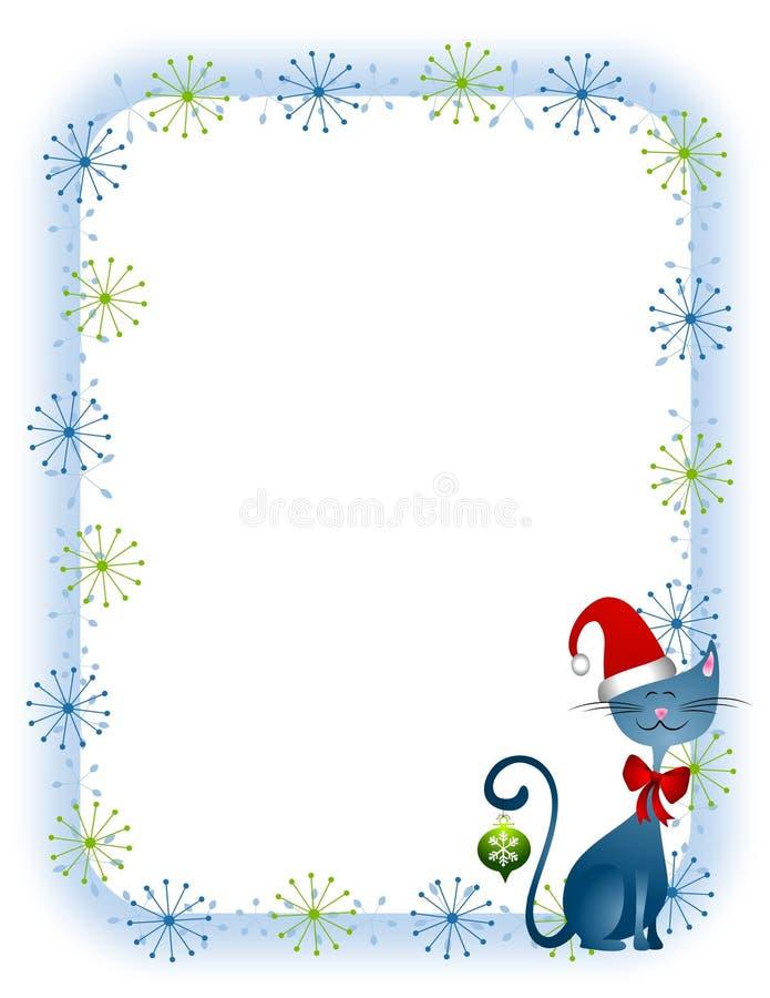 Beira do gato do Natal ilustração royalty free