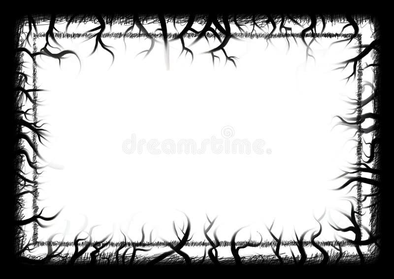 Beira do grunge da natureza ilustração do vetor