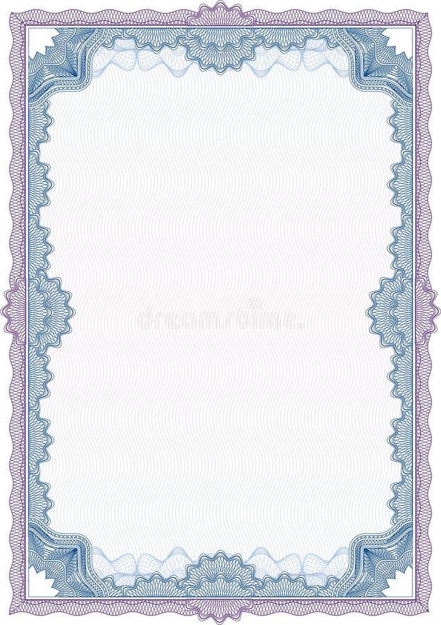 Beira do Guilloche para o diploma ou o certificado ilustração do vetor