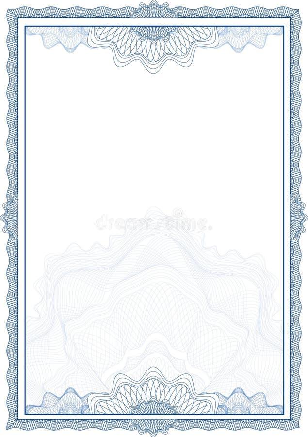 Beira do Guilloche para o diploma ou o certificado ilustração royalty free