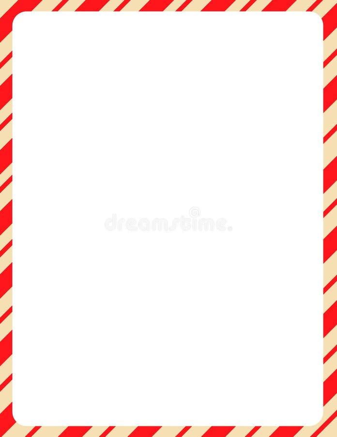 Beira do Natal/bastão de doces ilustração do vetor