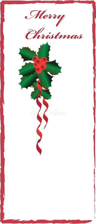 Beira do Natal com azevinho ilustração do vetor