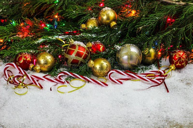 Beira do ornamento do Natal fotos de stock royalty free