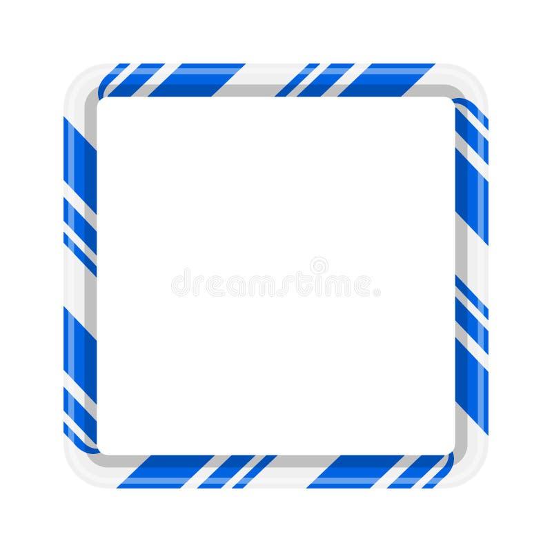 Beira do quadro do bastão de doces para o projeto do Natal em b branco ilustração do vetor