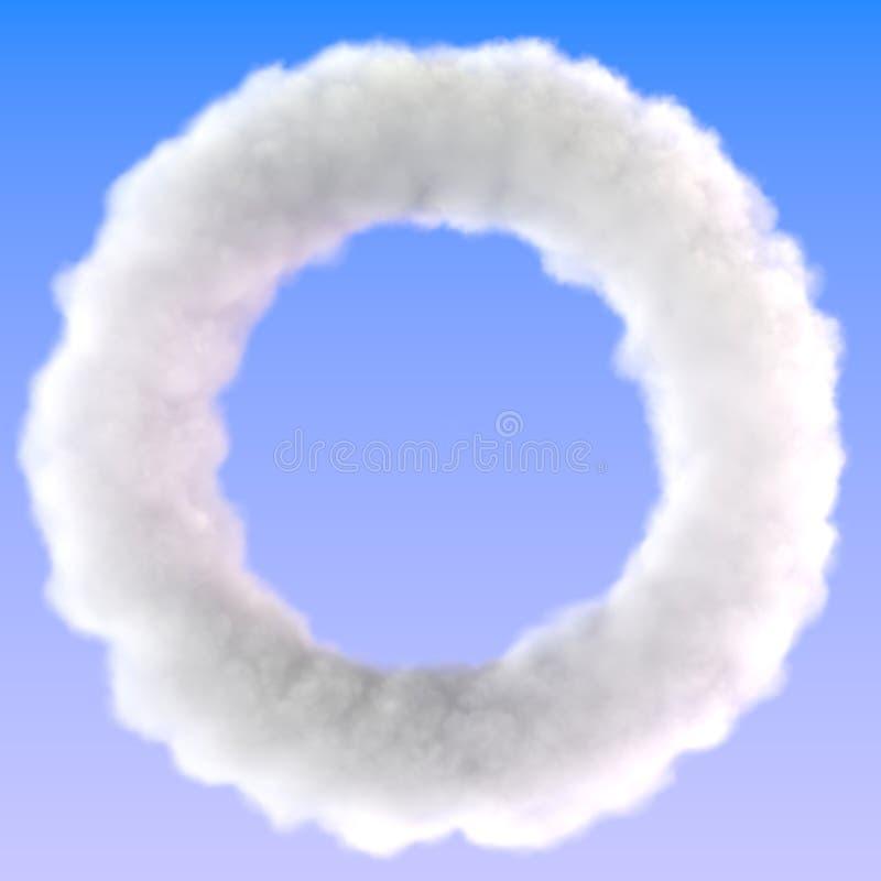 Beira do quadro do céu do círculo zero da nuvem ilustração stock