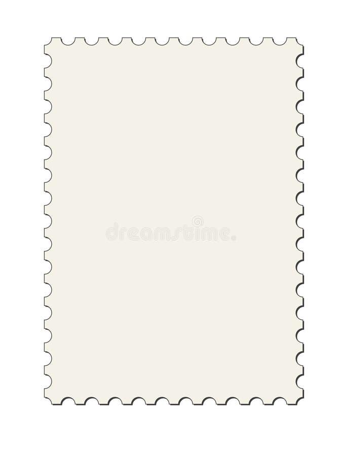 Beira do selo de porte postal (vetor) ilustração do vetor