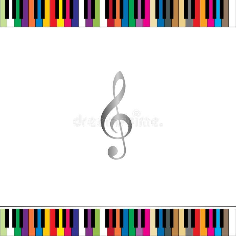 Beira do teclado de piano ilustração royalty free